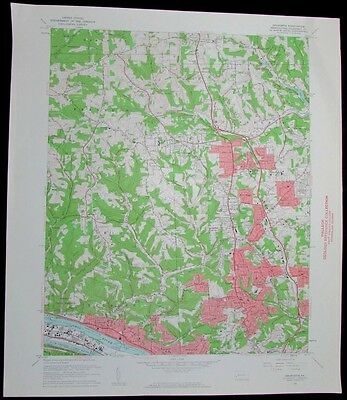 Emsworth Pennsylvania Ohio River Ross vintage 1961 old USGS Topo chart
