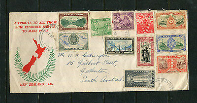 New Zealand Nz 1946 Peace  Illustrated Fdc Stamp Cover