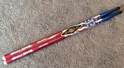 Hard Rock Cafe Drumsticks Red White and Blue 4th of July