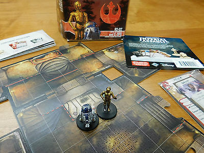 Well Painted Star Wars Imperial Assault Fantasy Flight C-3PO, R2-D2 Ally Pack