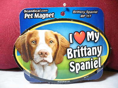 I Love My Brittany Spaniel Mp 117 Pet Magnet Scandical