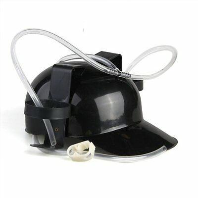Headset has Biere Plastic Black Cap Helmet Beer Drinking Coke Hat E8