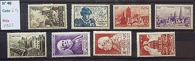 M.40.   timbres France neufs**  lot**  1945**   luxe.