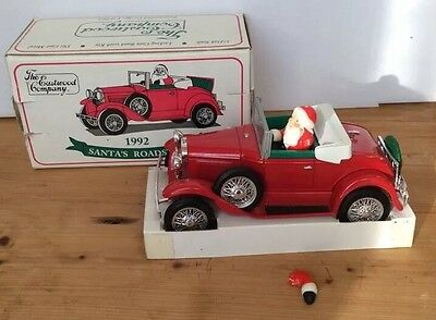 1992 Santa's Roadster Diecast Bank - The Eastwood Co