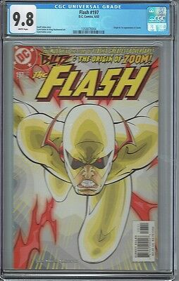 Cgc 9.8 Flash #197 White Pages 1St Appearance Zoom Hunter Zolomon