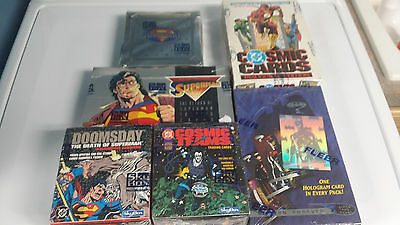 6 count Sealed DC Trading Card Box Lot Superman Doomsday Batman Cosmic Cards ++