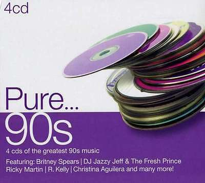 PURE 90s 4CD SEALED/NEW 2012 Britney Spears Ricky Martin Jeff Buckley TLC
