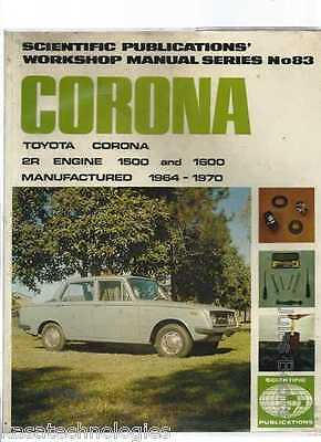 Gregory's SP Manual Toyota Corona 1500 and 1600 Series 1964-70  No.83