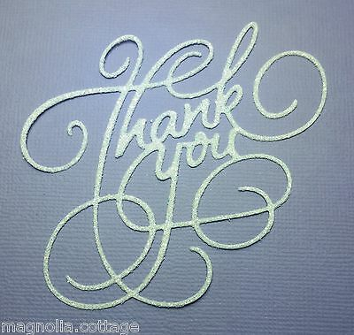 CHOICE OF COLOUR & CARD... 6  x  Thank You Greetings, Die Cuts, Embellishments