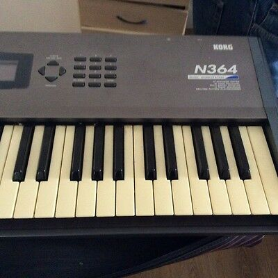 KORG electronic KEYBOARD N364 Synthesizer with Free Standing Large Amp