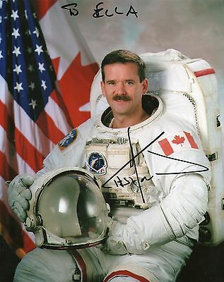 Chris Hadfield LOT OF TWO hand signed autograph IN PERSON 10x8 photo - ASTRONAUT