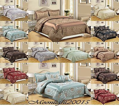 Jacquar 3 Piece Quilted Bedspread & 7 Piece Quilted Comforter set Bedding set
