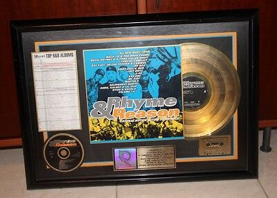 RIAA Rhyme & Reason Movie Soundtrack GOLD Sales Award Rap Hip Hop Multi Artists