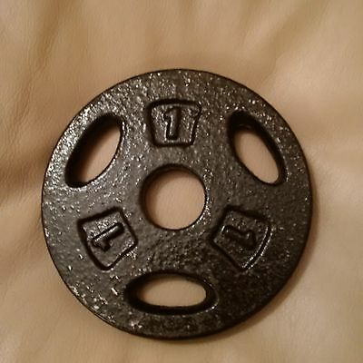 TRI GRIP OLYMPIC WEIGHT PLATES DISC CAST IRON FITNESS 1kg New