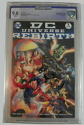 DC Universe Rebirth # 1 (2016) CBCS NOT CGC 9.8 Midnight Release Variant