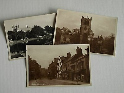 Early Era Theme Postcard Views Of Kendal In Cumbria X 3