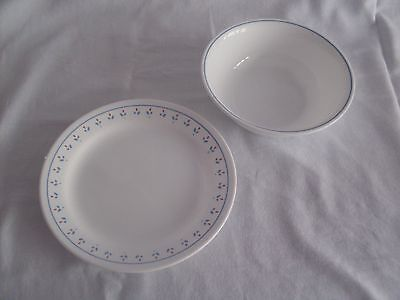 Corning Corelle Normandy Salad/Bread Butter Plates Cereal/Soup Bowls LOT of 16