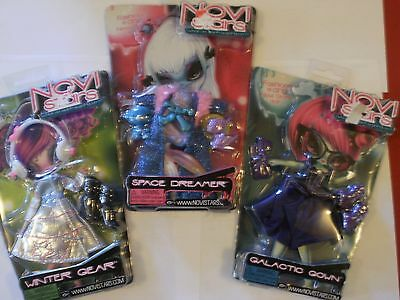 3 NEW NOVI STARS DOLL Fashion Pack: GALACTIC GOWN SPACE DREAMER WINTER GEAR ACC
