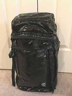 "BNWT ""LRG Container Collection"" Lifted Research Group Black Gloss Backpack"