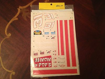 NASCAR Decals #31 Mom 'N' Pop's Goodwrench $1.00 Shipping