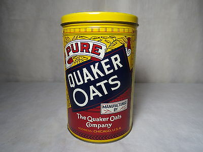 Vintage Advertising Old Fashioned Quaker Oats Tin Canister Limited Edition 1984