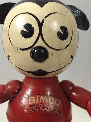 """7"""" Wood And Composition Bimbo!  Betty Boop's Dog!  Fleisher Studios"""