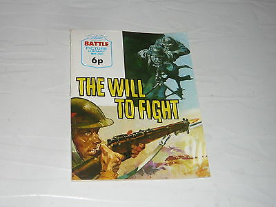 Battle Picture Library Comic Magazine No748 The Will to Fight Germany France WW2