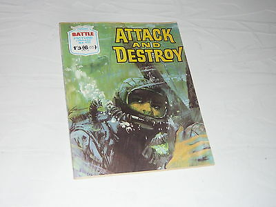 Battle Picture Library Comic Magazine No492 Attack and Destroy Landing Craft WW2