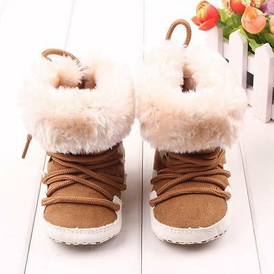 Baby Winter Soft Sole Crib Warm Flats  Boot Toddler Prewalker Girl Boy Shoes