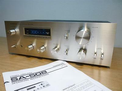 Pioneer SA-508 Vintage Stereo Integrated  Phono Amplifier Made in Japan (Silver)