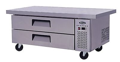 """Atosa Commercial 60"""" 2 Drawer Refrigerated Chef Base  Cooler W/casters Free Ship"""
