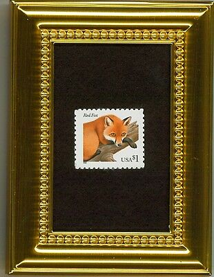 3036 Red Fox With Cunning Eyes - A Glass Framed Collectible Postage Masterpiece