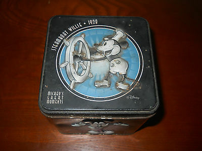 Mickey's Great Moments Empty Tin Box~ Nice Collectable ~Second To None!~L@@k!