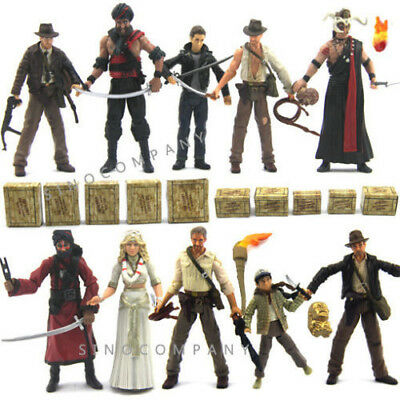 "NEW 10PCS LOT INDIANA JONES Raiders of the Lost Ark 3.75"" Action Figure BOY TOY"