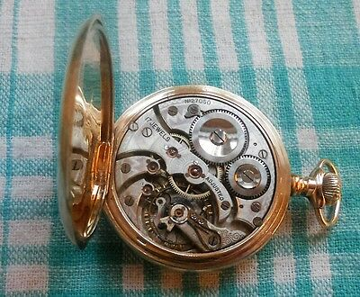 9ct Gold pocket watch,1910,High Grade,17 Jewel,Adjusted,Swan Neck Reg, Working