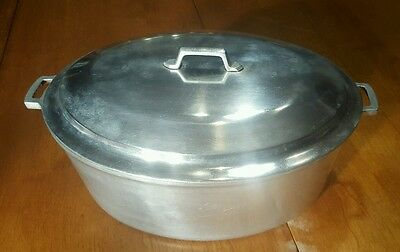 Miracle Maid Heavy Duty Cast Aluminum Dutch Oven Roaster Basting Lid