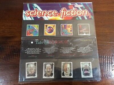 Royal Mail Postage Stamps-Science Fiction-Horror -Stoker/Doyle/Shelley-HG Wells