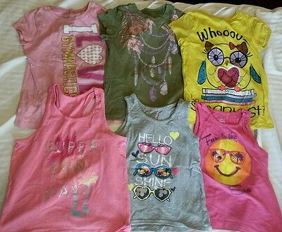 girls children's place shirts size 5-6 lot of 6