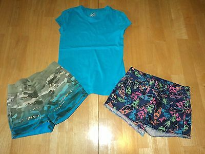 Justice 6 Slim Lot Shorts & Top Girls 6 Slim Justice Clothes Summer Lot