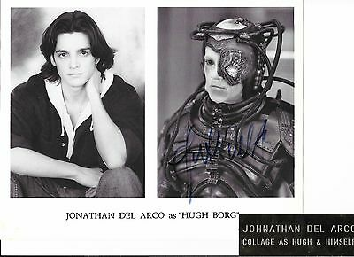 Jonathan Del Arco , Star Trek Ng, Hand Signed B&w Photo, With Metal Name Plate