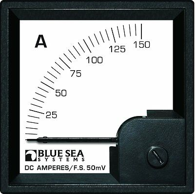 Blue Sea Systems 0-150A DC DIN Ammeter with Shunt