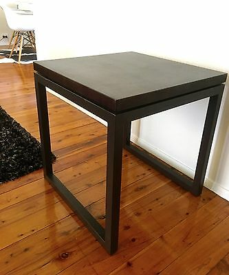 Side table/ocassional table - Solid Timber and Iron/metal frame