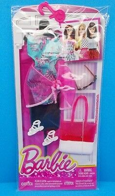 New! 2016 Barbie Complete Look Fashion Pack Swimsuit Shoes Tote & Sunglasses