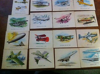 32 Old Vintage Aviation Collector Cards Nabisco Vita Brits Concorde  War Planes