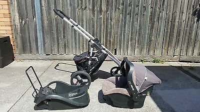 Steelcraft Strider DLX pusher/stroller and baby capsule