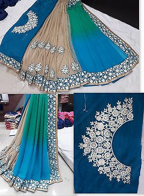 pakistani Bollywood indian designer Saree ethnic traditional party wear sari x10