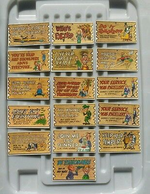 Vintage Wacky Plak Cards  - Trading Cards made in England