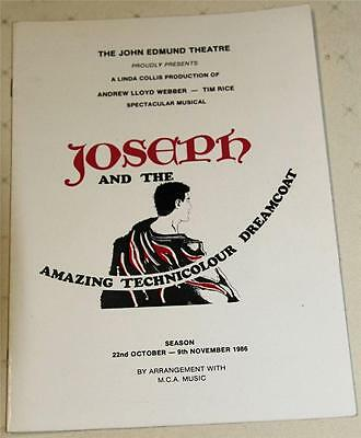 Joseph And The Amazing Technicolour Dreamcoat Souvenir Theatre Program