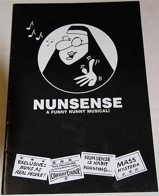 Nunsense A Funny Nunny Musical 1987 Souvenir Theatre Program - Excellent