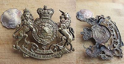 British Army King's Colonials Large Coat of Arms Cap Badge